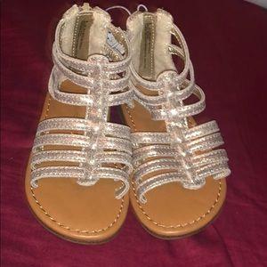 Cherokee girls gladiator gold sandals